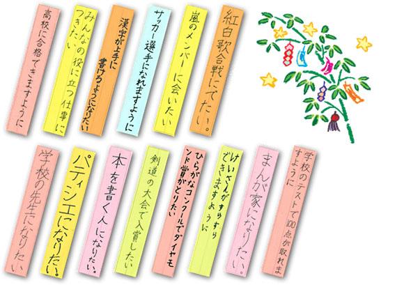 七夕の時期に行われる、短冊の ... : 一年の漢字 : 漢字